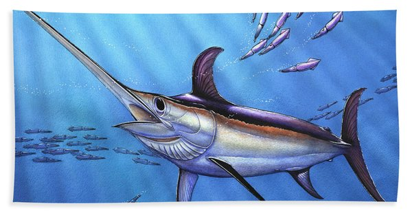 Swordfish In Freedom Bath Towel