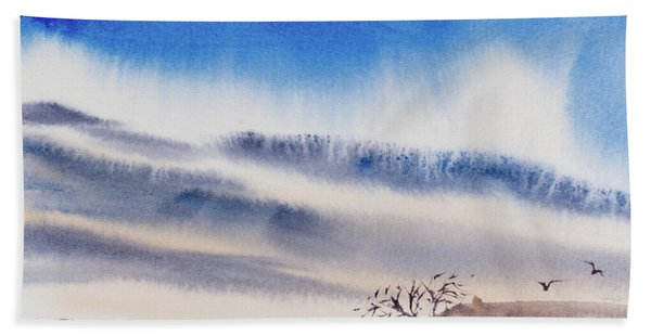 Tasmanian Skies Never Cease To Amaze And Delight. Hand Towel