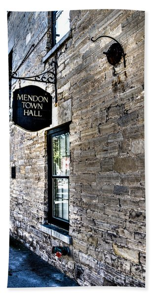 Mendon Town Hall Hand Towel