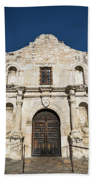 The Alamo Entrance San Antonio Texas Bath Towel