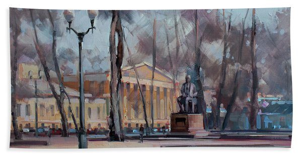 The Autumn Plein Air. Moscow, Strastnoy Boulevard. Bath Towel