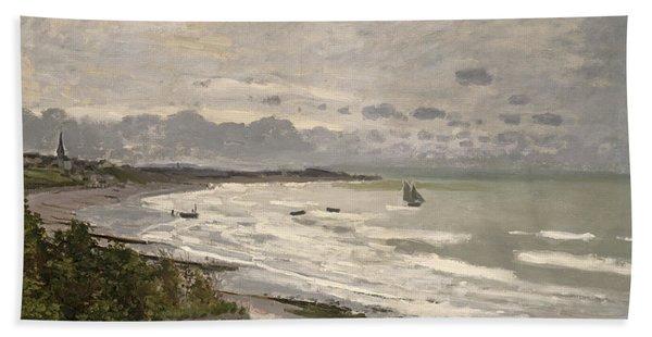 The Beach At Sainte Adresse Bath Towel