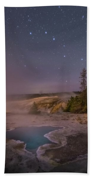 The Big Dipper In Yellowstone National Park Hand Towel