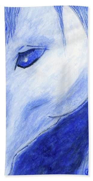The Blue Horse Bath Towel