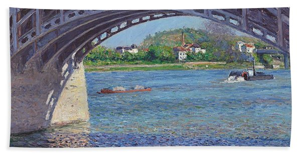 The Bridge At Argenteuil And The Seine Bath Towel