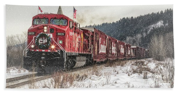 The Canadian Pacific Holiday Train Hand Towel