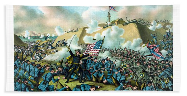 The Capture Of Fort Fisher Hand Towel