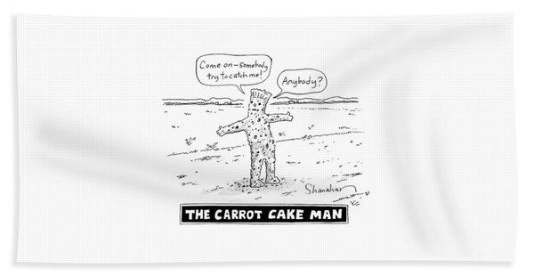 The Carrot Cake Man Bath Towel
