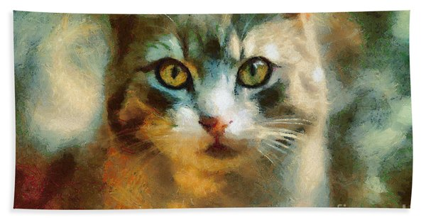 The Cat Eyes Hand Towel