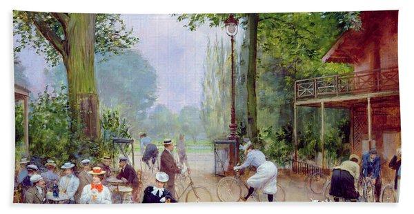 The Chalet Du Cycle In The Bois De Boulogne Hand Towel