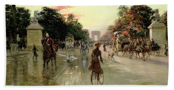 The Champs Elysees - Paris Bath Towel