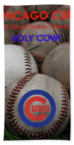 The Chicago Cubs - Holy Cow Hand Towel