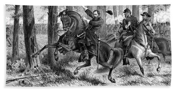 The Fall Of Reynolds - Civil War Hand Towel