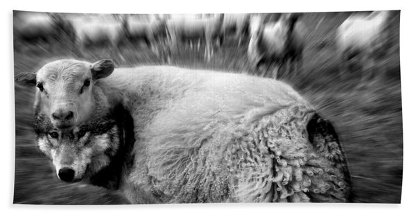 The Flock Is Safe Grayscale Bath Towel