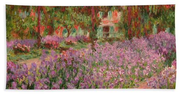 The Garden At Giverny Hand Towel