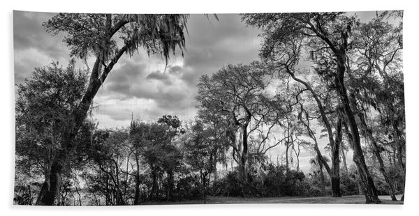 The Grounds Of Fort Caroline National Memorial Hand Towel