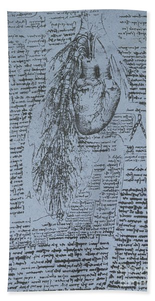 The Heart And The Bronchial Arteries Hand Towel