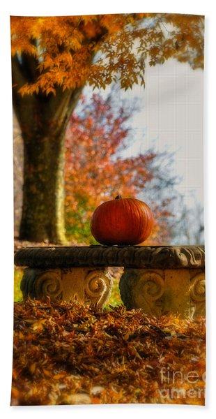 The Last Pumpkin Bath Towel