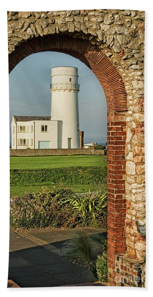 The Lighthouse And The Chapel Hand Towel