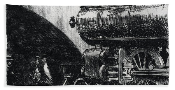 The Locomotive Bath Towel