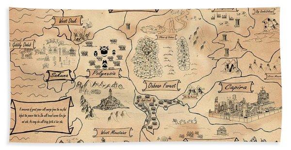 The Map Of The Enchanted Kira Bath Towel