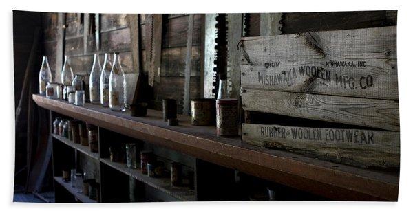 Bath Towel featuring the photograph The Mishawaka Woolen Bar by Lorraine Devon Wilke