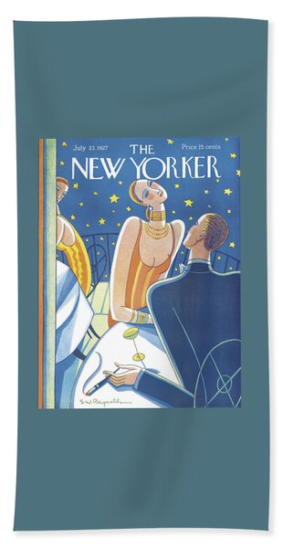 The New Yorker Cover - July 23rd, 1927 Bath Towel