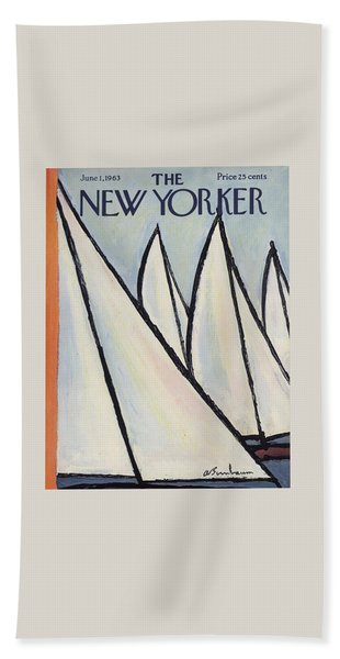 The New Yorker Cover - June 1st, 1963 Bath Towel