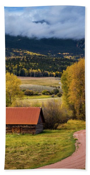 Hand Towel featuring the photograph The Old Barn On Ohio Pass by John De Bord