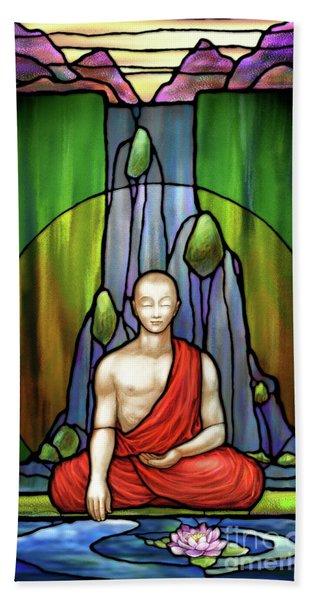 The Praying Monk Hand Towel