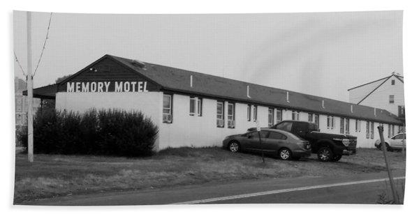 The Rolling Stones' Memory Motel Montauk New York Bath Towel