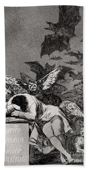 The Sleep Of Reason Produces Monsters Hand Towel