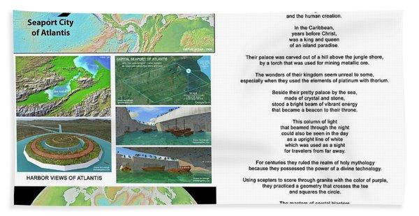 The Spirit Of Atlantis Poem Hand Towel