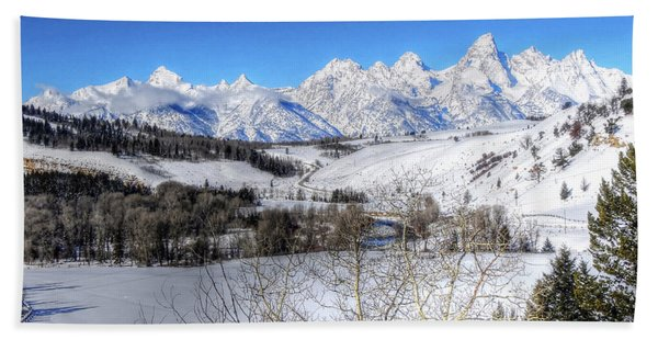 The Tetons From Gros Ventre Valley Bath Towel