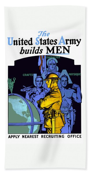 The United States Army Builds Men Hand Towel
