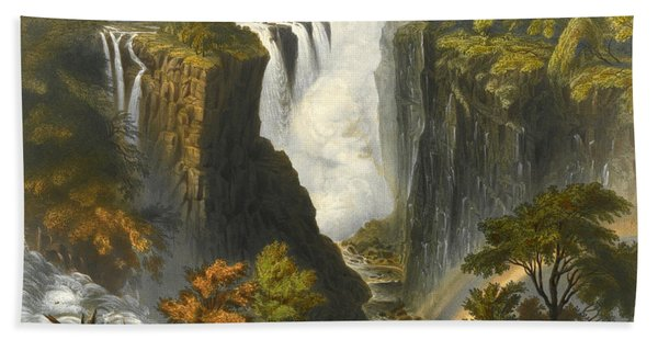 The Victoria Falls From Western End Of Chasm  Hand Towel