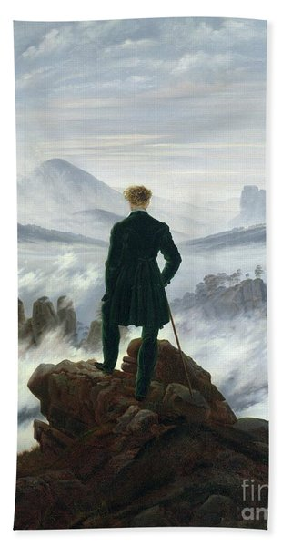The Wanderer Above The Sea Of Fog Hand Towel