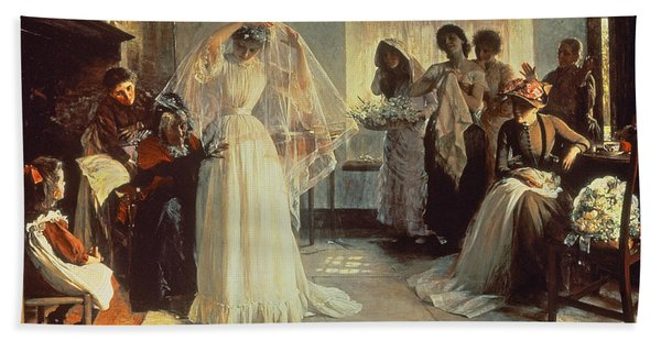 The Wedding Morning Hand Towel