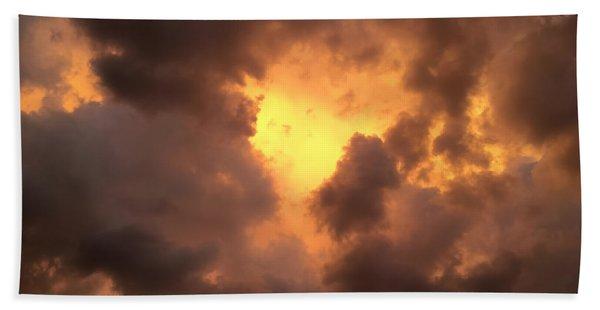 Thunderous Sunset Bath Towel