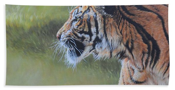 Tiger Portrait Bath Towel