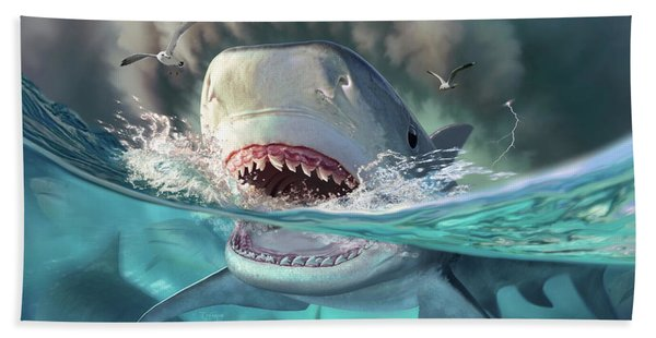 Tiger Sharks Hand Towel