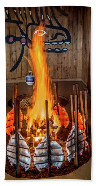 Tillicum Village Salmon Cook Hand Towel