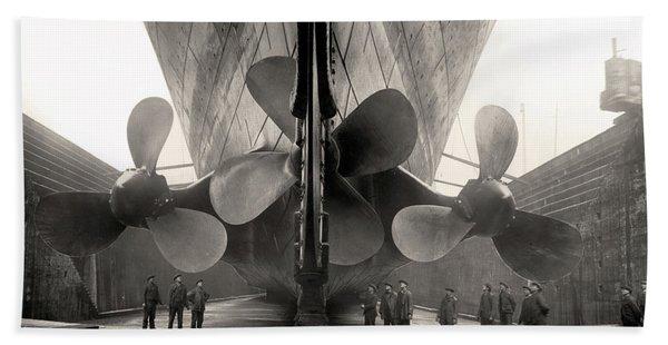 Titanic's Propellers  Bath Towel