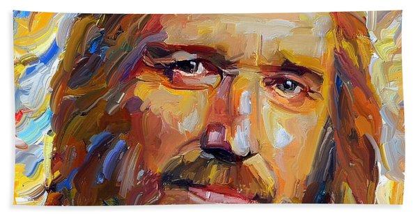 Tom Petty Tribute Portrait 1 Bath Towel