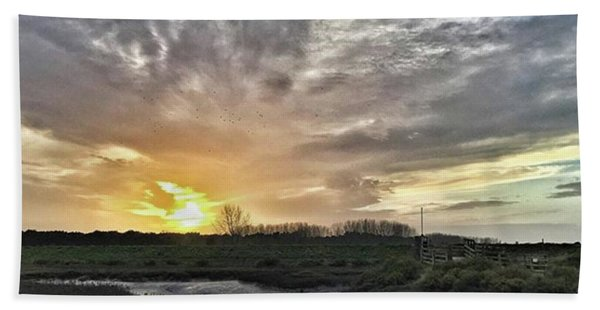 Tonight's Sunset From Thornham Bath Towel
