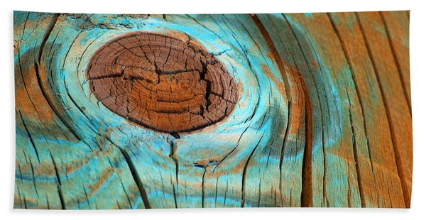 Topographical Knot Photograph Hand Towel
