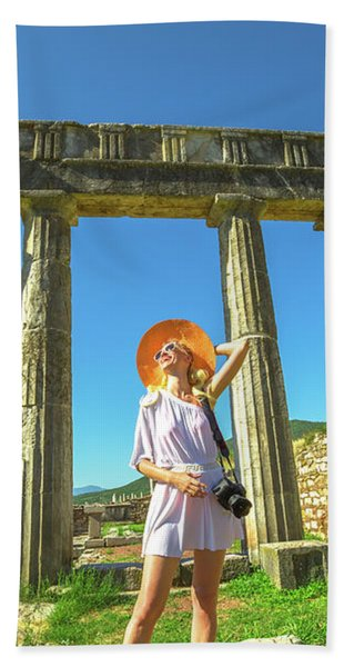 Tourist Traveler Photographer Bath Towel