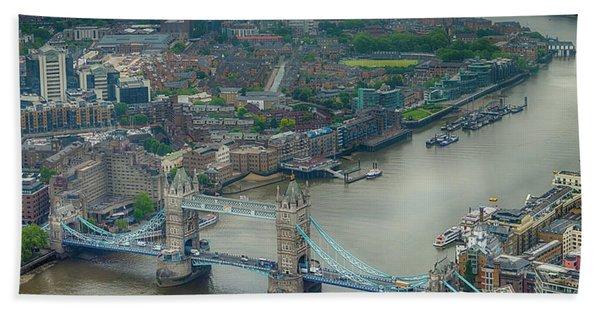 Tower Bridge In London Hand Towel
