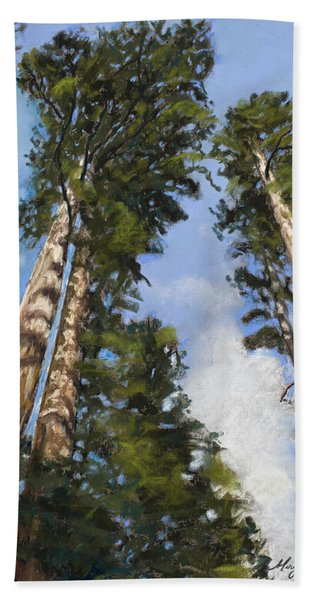 Towering Sequoias Bath Towel