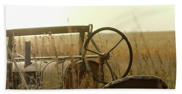 Tractor Sunrise Hand Towel